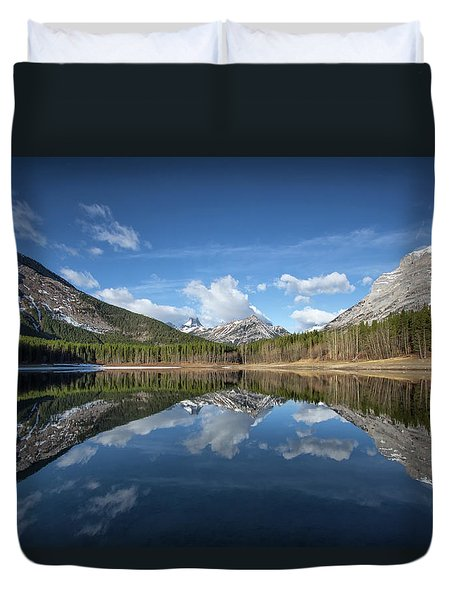 Wedge Pond Reflections Duvet Cover