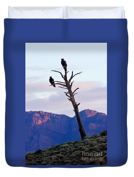 Wedge Tail Eagles Duvet Cover