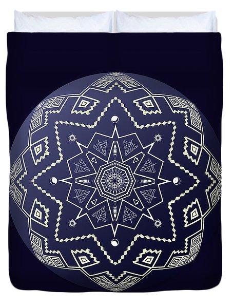 Wedgewood Sphere Mandala Duvet Cover