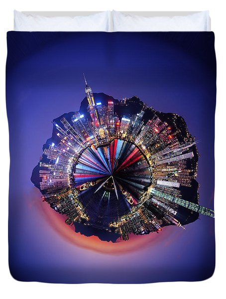 Wee Hong Kong Planet Duvet Cover by Nikki Marie Smith