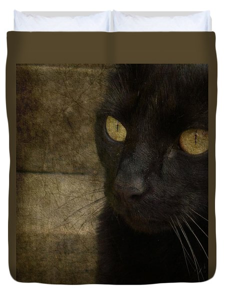 Duvet Cover featuring the photograph Wee Sybil  by Paul Lovering