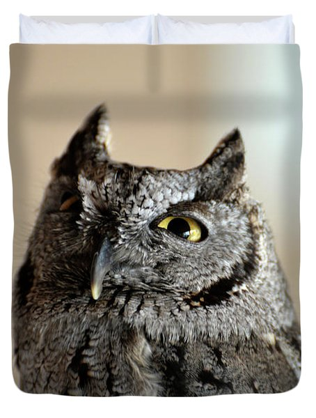 Wee Western Screech Owl Duvet Cover