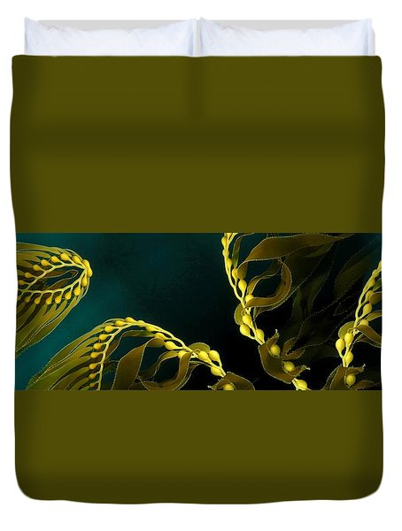 Weed 1 Duvet Cover by Ron Bissett
