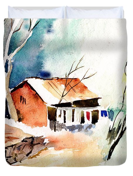 Weekend House Duvet Cover by Anil Nene