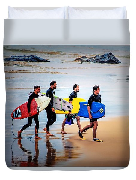 Weekend Warriors Duvet Cover by Wallaroo Images