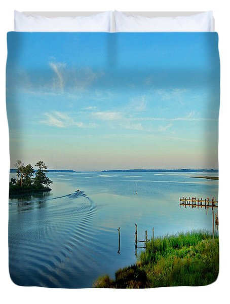 Weeks Bay Going Fishing Duvet Cover