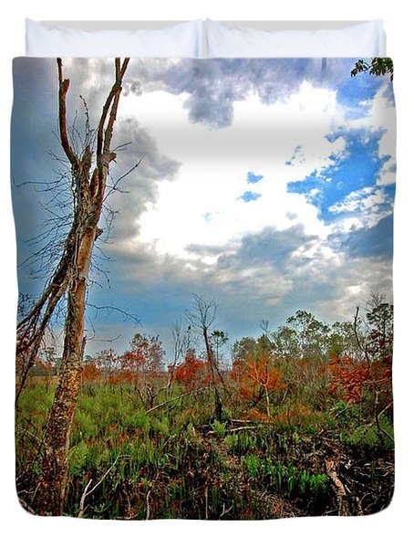 Weeks Bay Swamp Duvet Cover by Michael Thomas