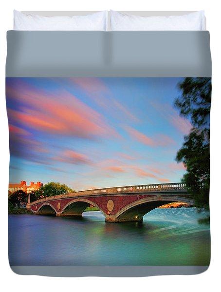 Weeks' Bridge Duvet Cover by Rick Berk