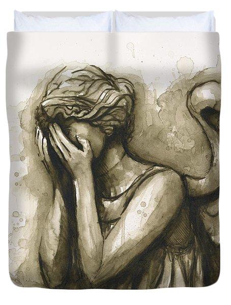 Weeping Angel Duvet Cover