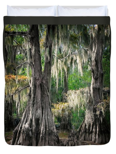 Duvet Cover featuring the photograph Weeping Canopy by Lana Trussell