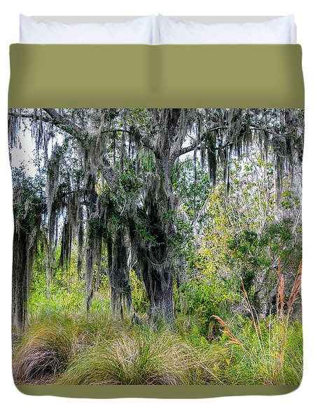 Duvet Cover featuring the photograph Weeping Willow by Madeline Ellis