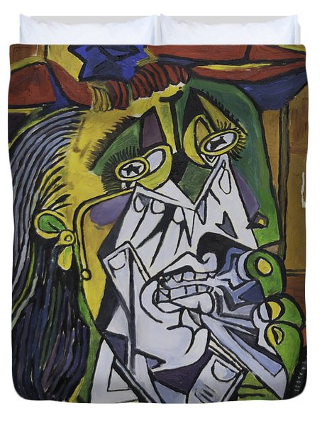 Picasso's Weeping Woman Duvet Cover