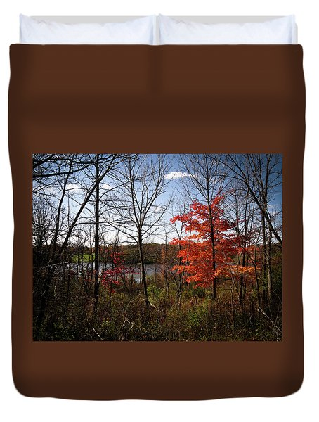 Duvet Cover featuring the photograph Wehr Wonders by Kimberly Mackowski