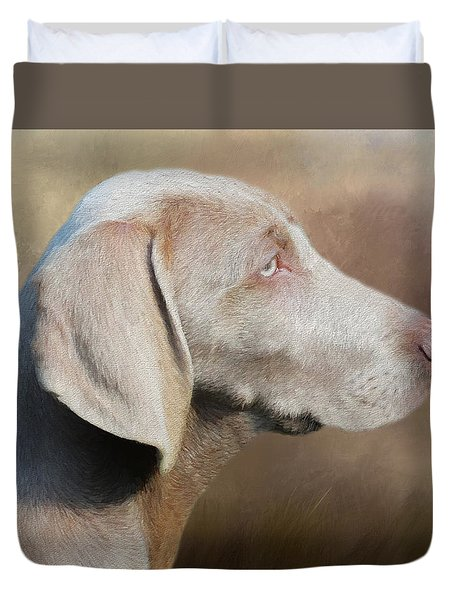 Weimaraner Adult - Painting Duvet Cover