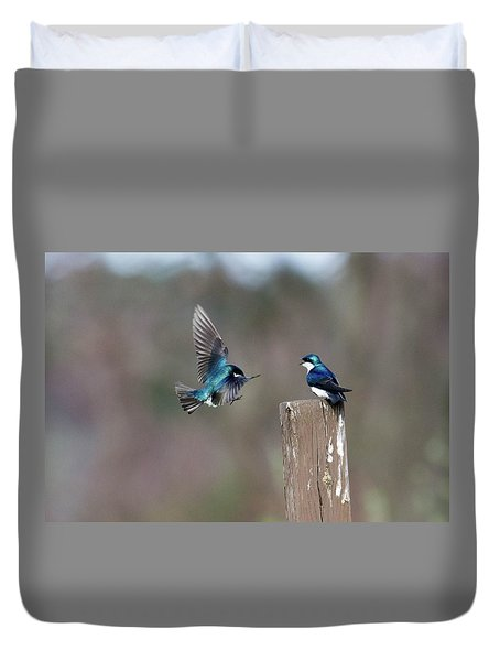 Duvet Cover featuring the photograph Welcome Back by Gary Wightman