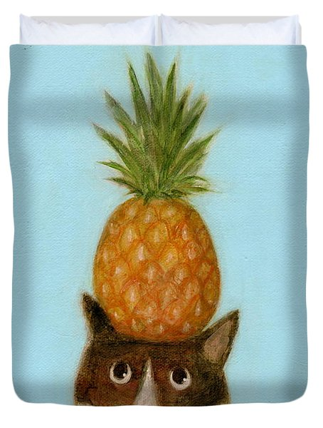 Welcome Cat Duvet Cover