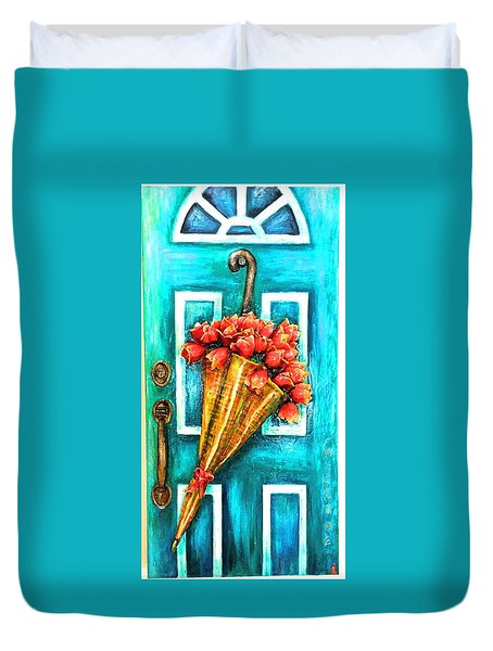 Welcome Door Duvet Cover