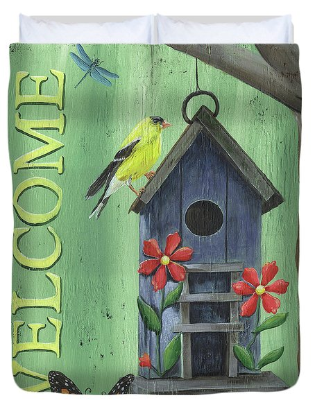 Welcome Goldfinch Duvet Cover