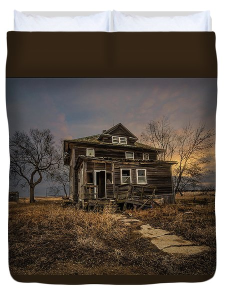 Duvet Cover featuring the photograph Welcome Home by Aaron J Groen