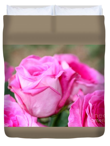Welcome In Pink Duvet Cover