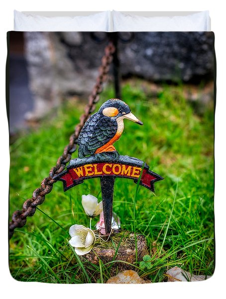 Welcome Sign Duvet Cover