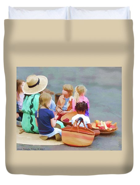 Welcome The Children Duvet Cover