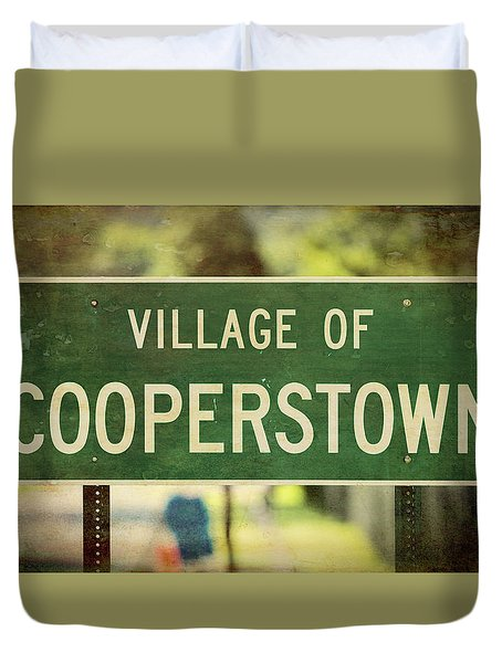 Welcome To Cooperstown Duvet Cover
