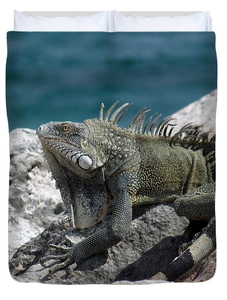 Welcome To Curacao Duvet Cover