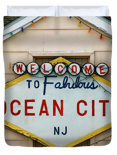 Welcome To Fabulous Ocean City N J Duvet Cover