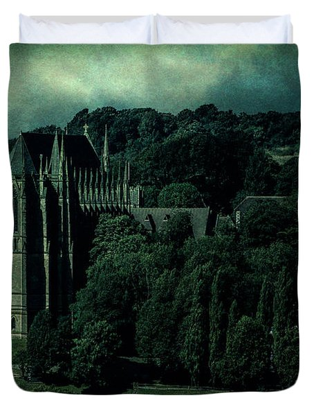 Duvet Cover featuring the photograph Welcome To Wizardry School by Chris Lord