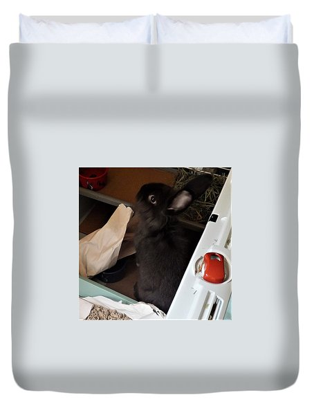 Duvet Cover featuring the photograph Welcome To My Humble Abode by Denise Fulmer