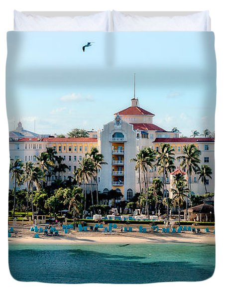 Welcome To Nassau Duvet Cover by Christopher Holmes