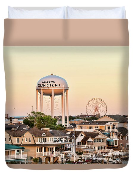 Welcome To Ocean City, Nj Duvet Cover