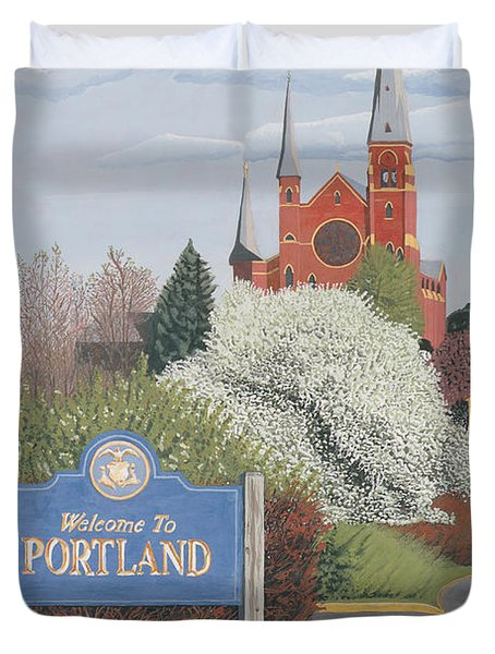 Welcome To Portland Duvet Cover