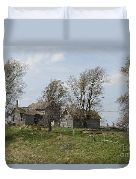 Welcome To The Farm Duvet Cover by Renie Rutten