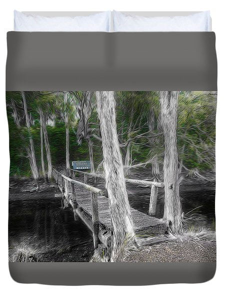 Duvet Cover featuring the photograph Welcome To The Jungle 01 by Kevin Chippindall