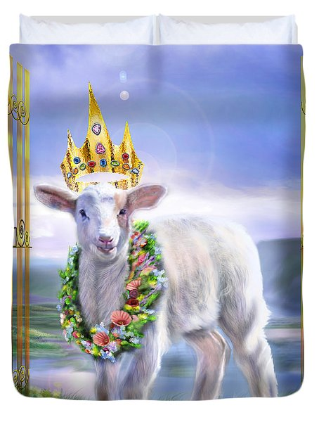 Welcome To The Kingdom Duvet Cover by Reggie Duffie