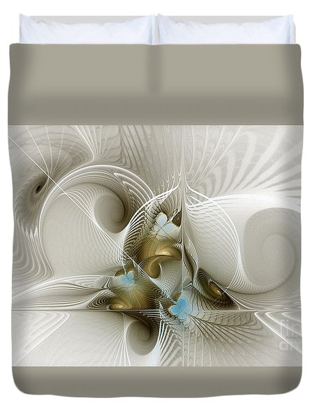 Welcome To The Second Floor-fractal Art Duvet Cover