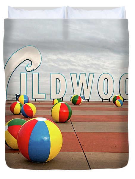 Welcome To The Wildwoods Duvet Cover