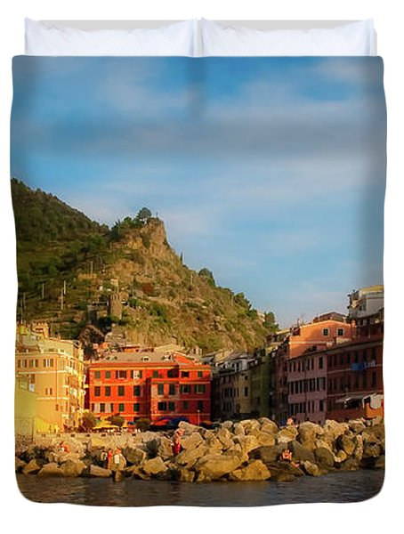 Welcome To Vernazza Duvet Cover