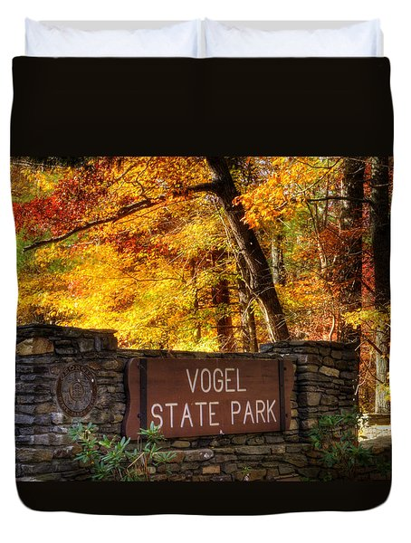 Welcome To Vogel State Park Duvet Cover