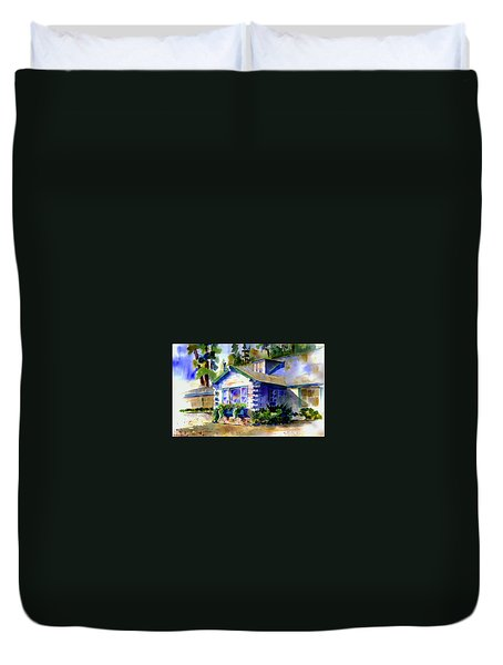 Welcome Window Duvet Cover