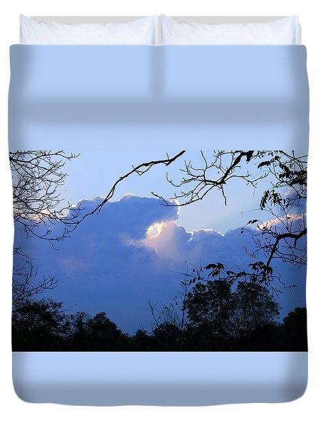 Duvet Cover featuring the photograph Welcoming Light by Hanne Lore Koehler