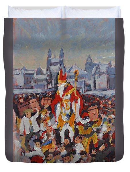 Welcoming Saint Nicolas In Maastricht Duvet Cover