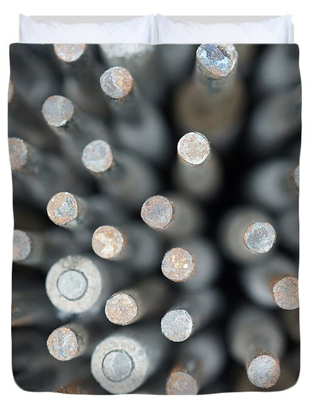 Welding Rods Duvet Cover by Ernie Echols