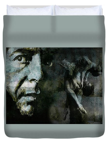 Duvet Cover featuring the painting Well , I've Heard There Is A Secret Chord by Paul Lovering