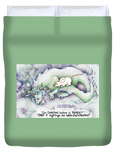 Well Documented Fpi Editorial Cartoon Duvet Cover