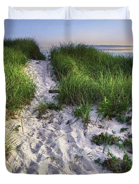 Wellfleet Beach Path Duvet Cover