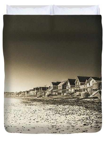 Wells Beach Maine Infrared Duvet Cover