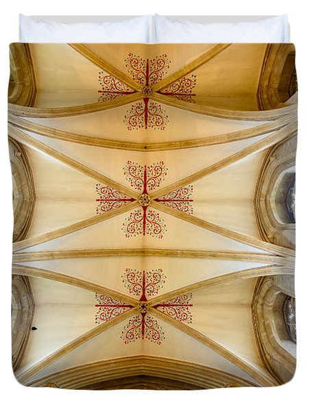 Wells Cathedral Ceiling Duvet Cover